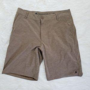 Free World Size 30 Stretch Hybrid Shorts